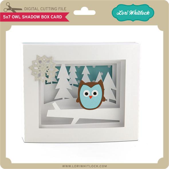 5x7 Owl Shadow Box Card