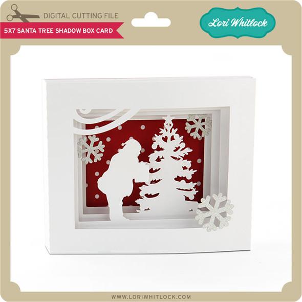 5x7 Santa Tree Shadow Box Card