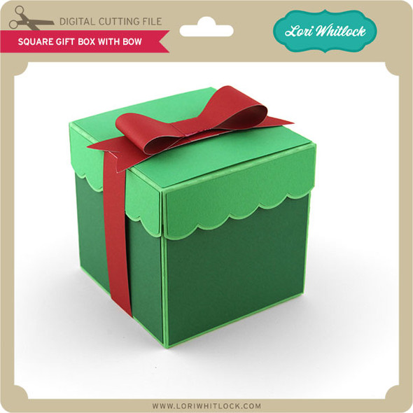 Square Gift Box With Bow