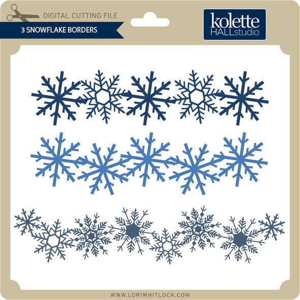 3 Snowflake Borders
