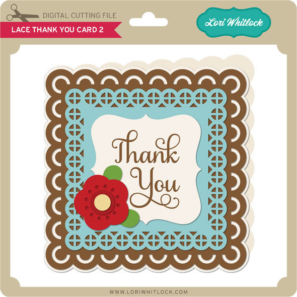 Lace Thank You Card 2