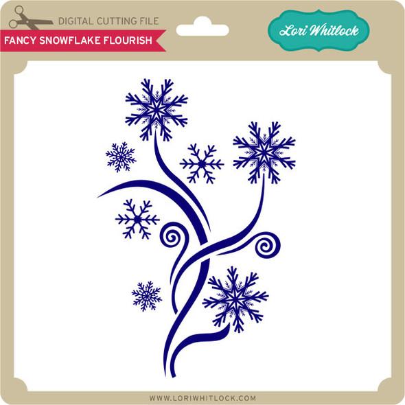 Fancy Snowflake Flourish