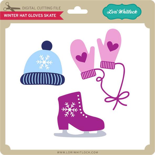 Winter Hat Gloves Skate