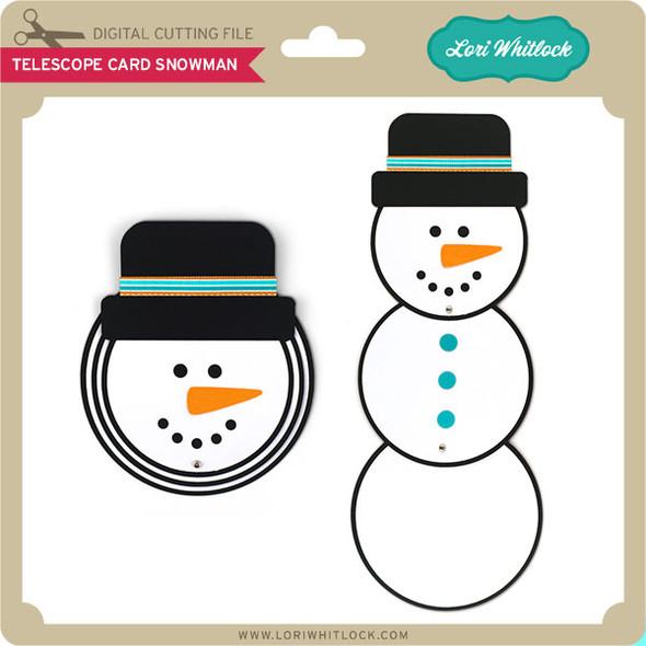 Telescope Card Snowman