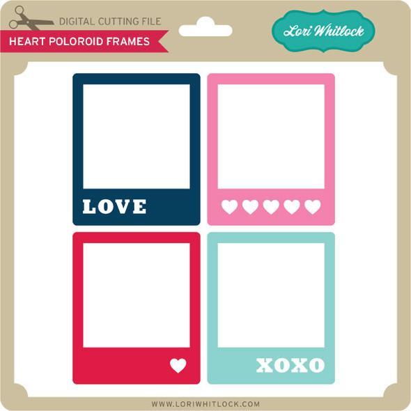 Heart Polaroid Frames