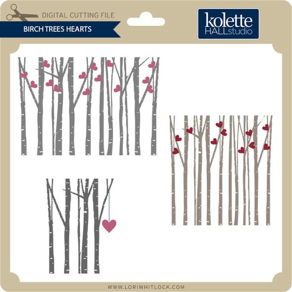 Birch Tree Hearts