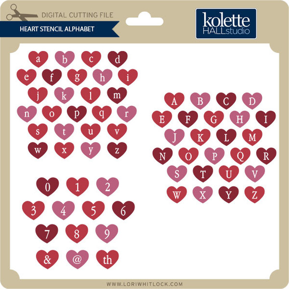 Heart Stencil Alphabet
