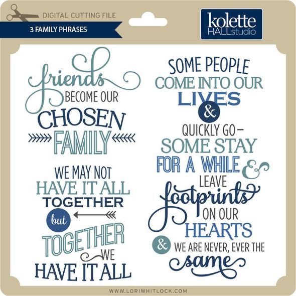 3 Family Phrases