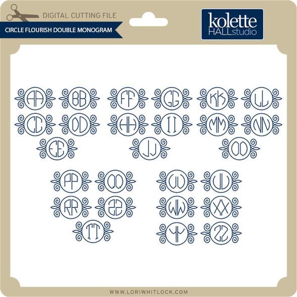 Circle Flourish Double Monogram