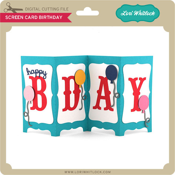 Screen Card Birthday