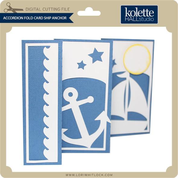 Accordion Fold Card Ship Anchor