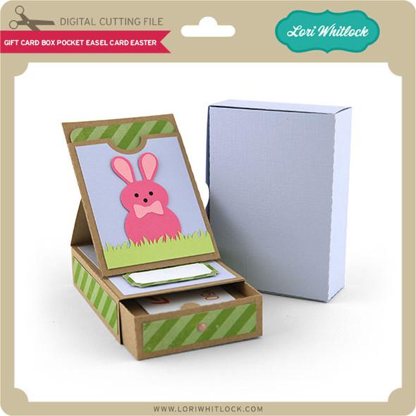 Gift Card Box Pocket Easel Card Easter
