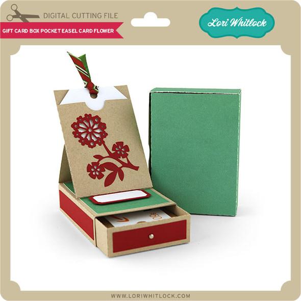 Gift Card Box Pocket Easel Card Flower