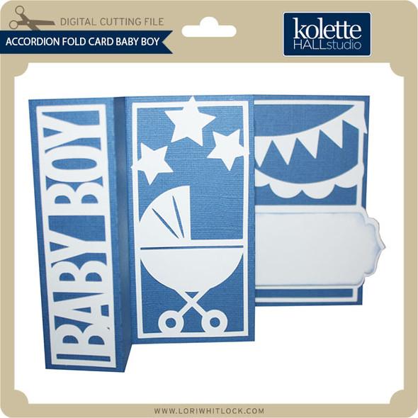 Accordion Fold Card Baby Boy