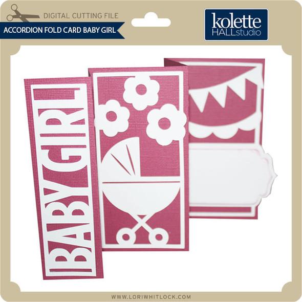 Accordion Fold Card Baby Girl