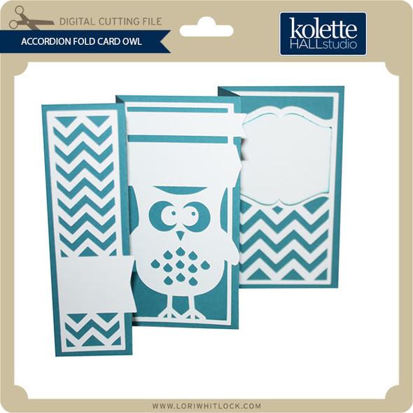 Accordion Fold Card Owl