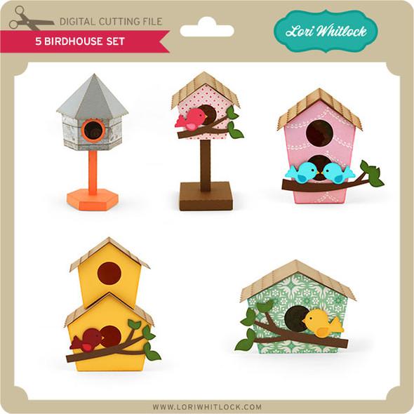 5 Birdhouse Set