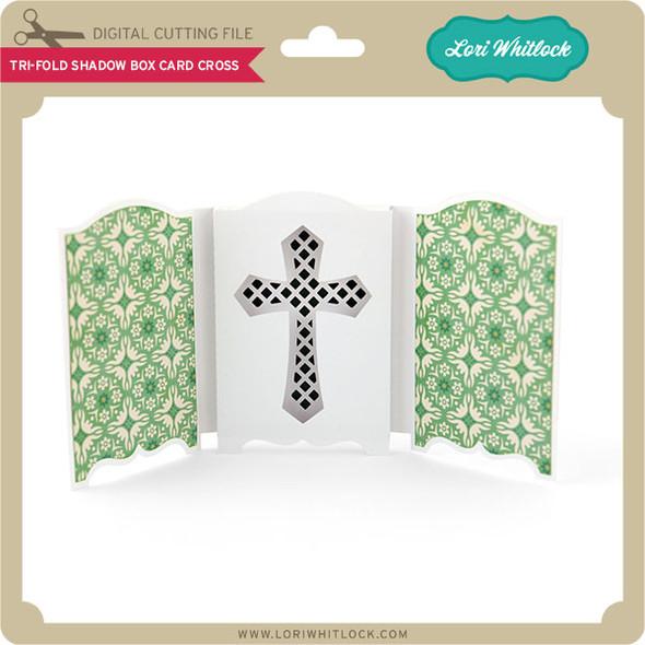 Tri-Fold Shadow Box Card Cross