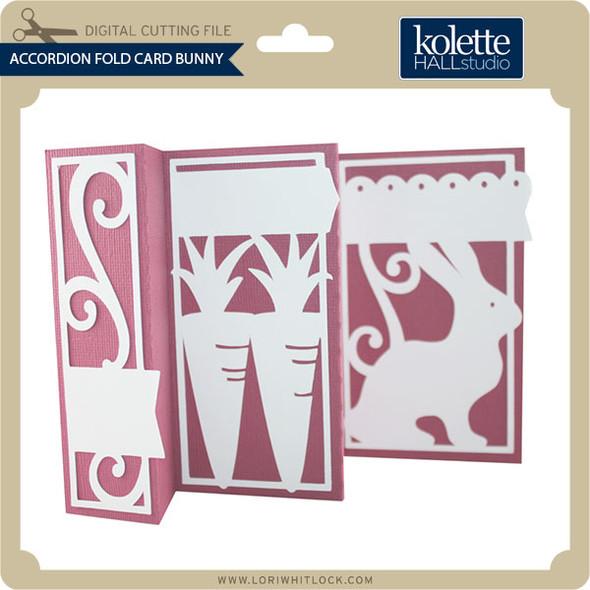 Accordion Fold Card Bunny