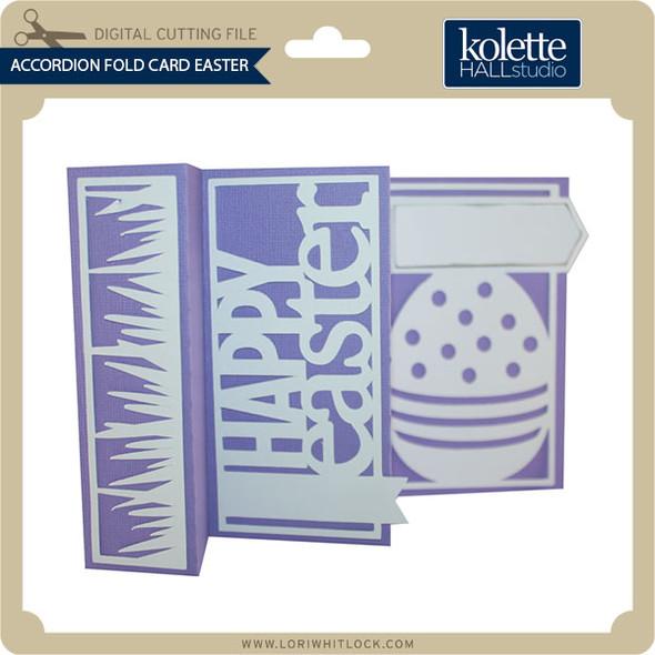 Accordion Fold Card Easter