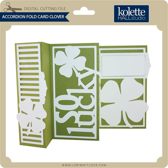 Accordion Fold Card Clover