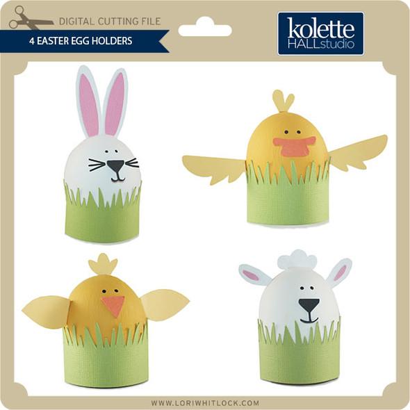 4 Easter Egg Holders