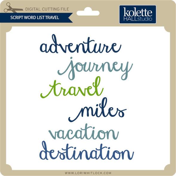 Script Word List Travel