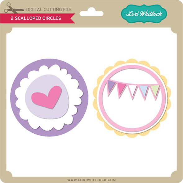 2 Scalloped Circles