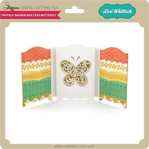 Tri-Fold Shadow Box Card Butterfly