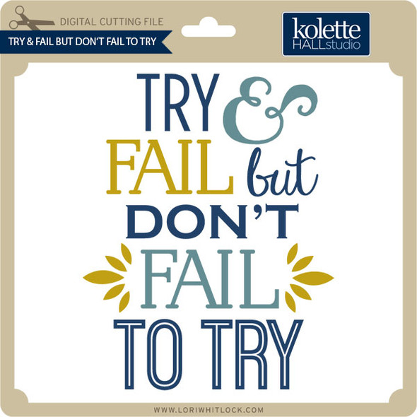 Try & Fail But Don't Fail to Try
