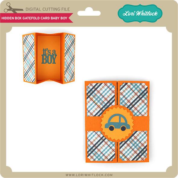 Hidden Box Gatefold Card Baby Boy