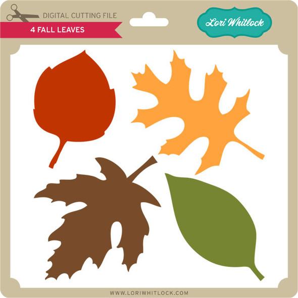 4 Fall Leaves