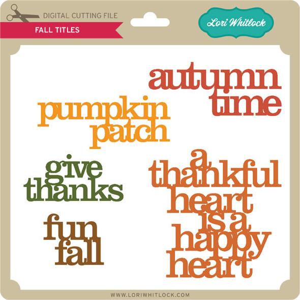 5 Fall Titles
