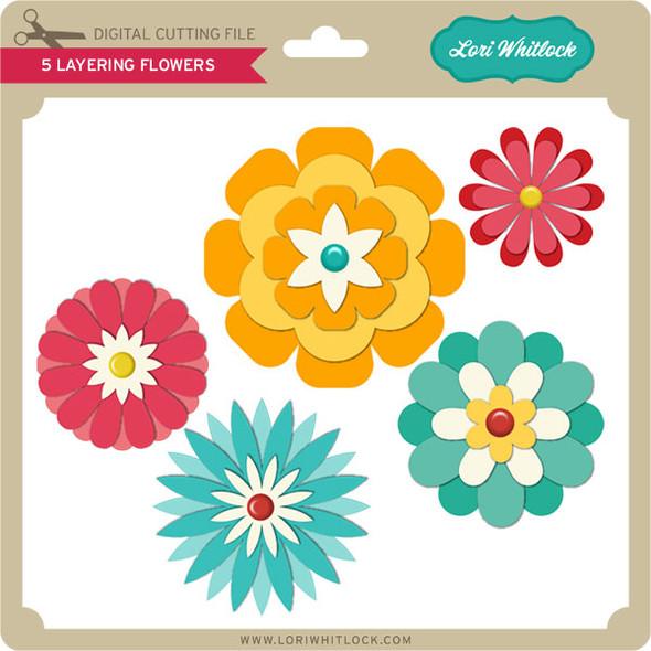 5 Layering Flowers