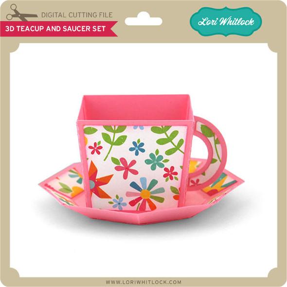 3D Teacup and Saucer Set