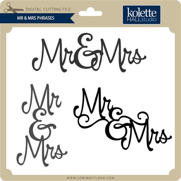 Mr & Mrs Phrases
