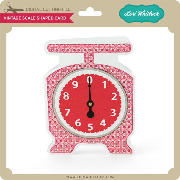 Vintage Scale Shaped Card