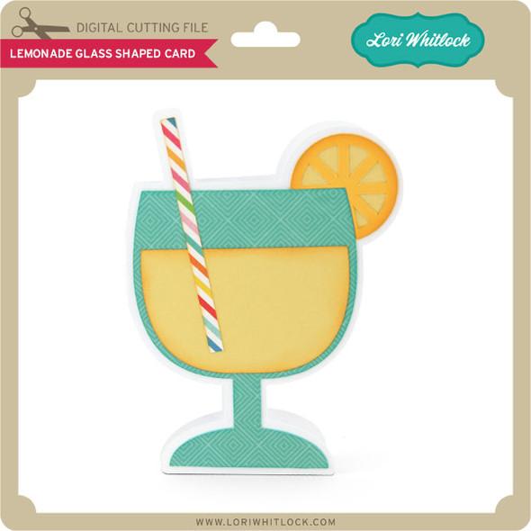 Lemonade Glass Shaped Card