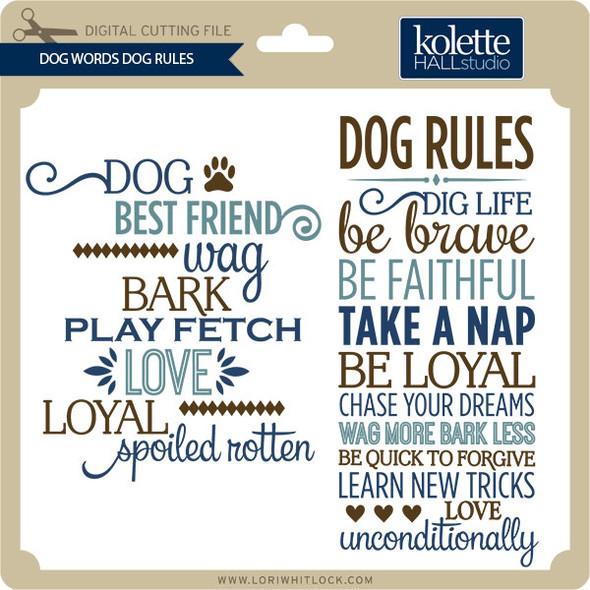 Dog Words Dog Rules