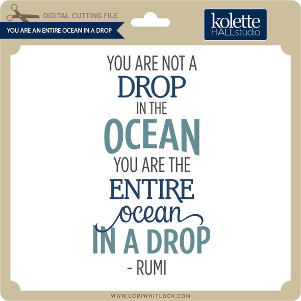 You Are An Entire Ocean In A Drop