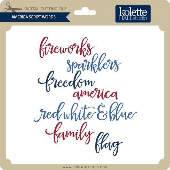 America Script Words