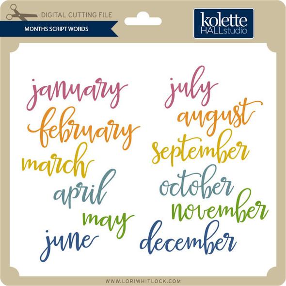 Months Script Words