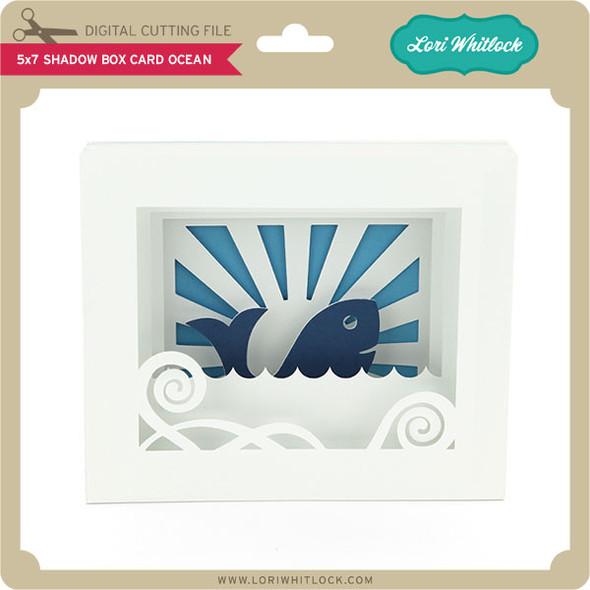 5x7 Shadow Box Card Ocean