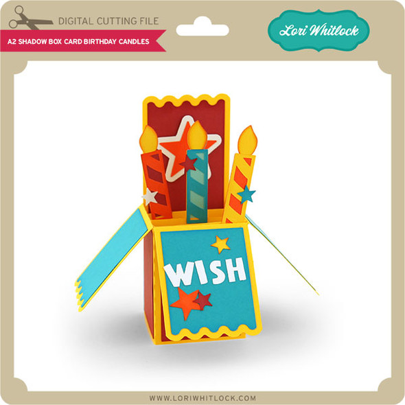 A2 Box Card Birthday Candles