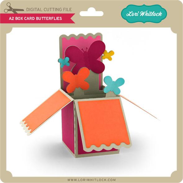 A2 Box Card Butterflies