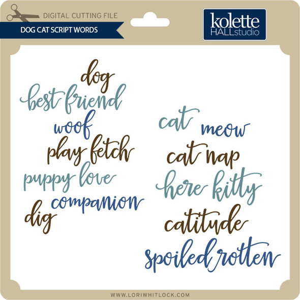 Dog Cat Script Words