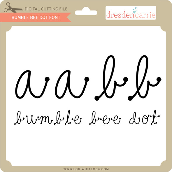 Bumblebee Dot Font