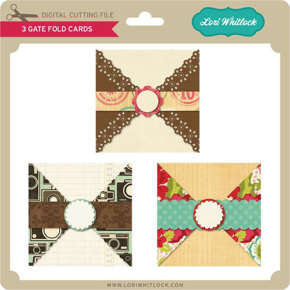 3 Gate Fold Cards