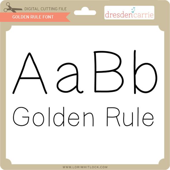 Golden Rule Font