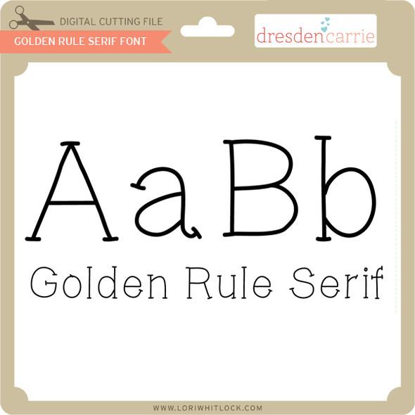 Golden Rule Serif Font